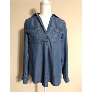 Ann Taylor Chambray Shirt.